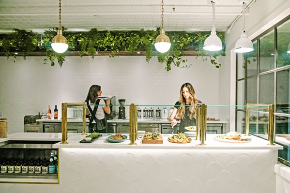 "FAST, FEEL-GOOD FOOD Nourish in downtown SLO is all about health food that doesn't bore, from the ""green eggs and grains bowl"" to Moroccan eggs and daily toast topped with rotating seasonal ingredients on artisanal bread. A daily carvery menu also offers  braised local proteins, while the signature ""nourish bowl"" satisfies with lentils, spinach, yams, chutney, spicy sauce, and quinoa. - PHOTO COURTESY OF NOURISH"