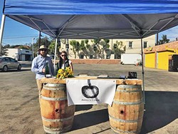 STARTING OVER After losing the start of their cider business in the Thomas Fire, Anna O'Reilly and her husband are getting back on their feet. - PHOTO COURTESY OF ANNA'S CIDER