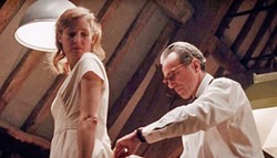BY DESIGN In Phantom Thread, women come in and out of renowned dressmaker Reynolds Woodcock's (Daniel Day-Lewis, right) life, until Alma (Vicky Krieps, left) comes along to fill the role of lover and muse. - PHOTO COURTESY OF FOCUS FEATURES