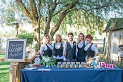 STEP RIGHT UP Megan's Organic Market supplied marijuana products and professional bud-tenders at one of Le Festin Events' cannabis-themed weddings. - PHOTO COURTESY OF KIEL RUCKER PHOTOGRAPHY