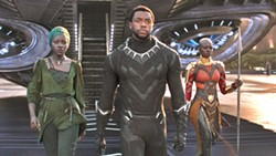 HERO In Black Panther, T'Challa's (Chadwick Boseman, center) resolve as king and superhero Black Panther is tested when he is drawn into a conflict that puts the fate of  his country and the world at risk. - PHOTO COURTESY OF MARVEL STUDIOS