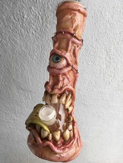 THAT'S DANK This bong, crafted by Grover Beach artist Joe Rowles had a starring role in a season two episode of the Netflix show Disjointed. - PHOTO COURTESY OF JOE ROWLES