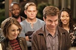 RUBES Annie (Rachel McAdams, left) and Max (Jason Bateman, right forefront), and their friends (left to right, second row) Kevin (Lamorne Morris), Ryan (Billy Magnussen), and Michelle (Kylie Bunbury), think they're solving a murder mystery during their regular game night, oblivious to the truth that a real crime is afoot. - PHOTO COURTESY OF NEW LINE CINEMA