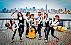 REGLA DE LAS MUJERES! The all-female mariachi group Mariachi Flor de Toloache plays the Clark Center's GlobalFEST—The New Golden Age of Latin Music on March 11. - PHOTO COURTESY OF MARIACHI FLOR DE TOLOACHE