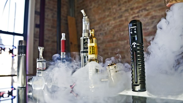 SMOKE E-cigarette products, like the ones show above, have never been more available in SLO County. - FILE PHOTO COURTESY OF JESSICA BURGER