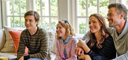 FAMILY BONDS Despite a warm and loving family, Simon (Nick Robinson, left) is still afraid to come out as gay to his little sister Nora (Talitha Bateman) and his parents Emily (Jennifer Garner) and Jack (Josh Duhamel). - PHOTO COURTESY OF FOX 2000 PICTURES