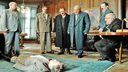 POWER TRIPS Russian comrades volley and compete to take leadership of the country in The Death of Stalin. - PHOTO COURTESY OF IFC FILMS