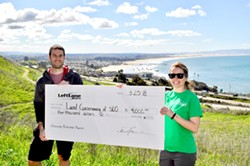 GIVING FOR OPEN SPACE San Luis Obispo based online retailer LeftLane Sports sponsored a Discovery Day on March 25 for the general public to check out the Pismo Preserve and donated $4,000 to The Land Conservancy of San Luis Obispo County. - PHOTO COURTESY OF VERDIN MARKETING