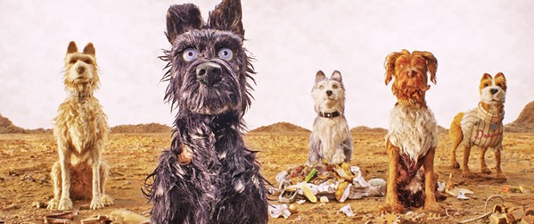 SEE SPOTS? After an epidemic leads to the banishment of dogs, a boy goes in search of his beloved canine, Spots, in Isle of Dogs. - PHOTO COURTESY OF FOX SEARCHLIGHT PICTURES