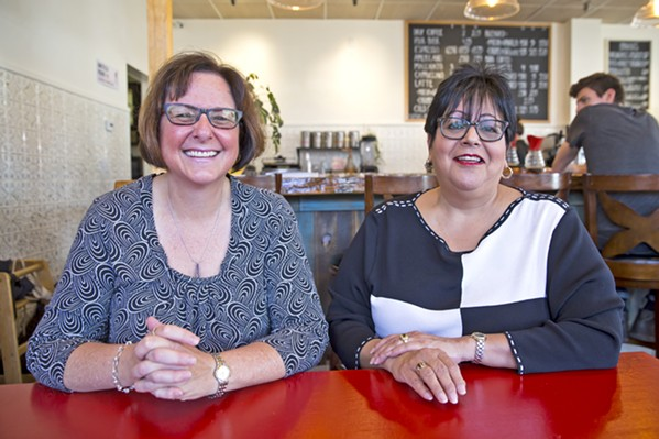 LICENSED Tami Peluso (left) and Cynthia Gonzalez (right) are co-founders of Elite Care, an Arroyo Grande-based cannabis delivery service and the first state-licensed cannabis business in SLO County. - PHOTO BY JAYSON MELLOM