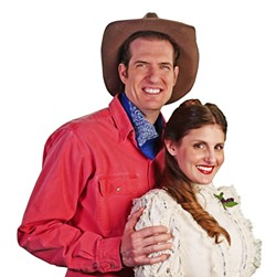YOUNG LOVE Gabriel Manro and April Amante star as Curly and Laurey in the classic musical Oklahoma! on stage at the Cal Poly Performing Arts Center May 12 and 13. - PHOTO COURTESY OF OPERA SAN LUIS OBISPO