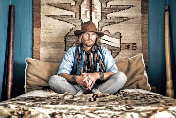 SPIRIT RANGER Singer-songwriter-multi-instrumentalist Trevor Green returns to the Central Coast with a stop at Sweet Springs on May 11, SLO Brew Rock on May 12, and Mr. Rick's on May 13, where he'll present his one-man-band guitar/didgeridoo/percussion show. - PHOTO COURTESY OF WILL THOREN