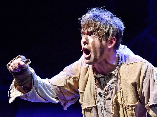 SANCTUARY Nick Hobbs brings Quasimodo to life in Pacific  Conservatory Theatre's (PCPA) production of The Hunchback of Notre  Dame. - PHOTO COURTESY OF LUIS ESCOBAR REFLECTIONS PHOTOGRAPHY STUDIO