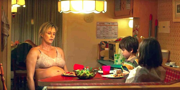 EXHAUSTED Marlo (Charlize Theron, who gained nearly 50 pounds for the role), is an overwhelmed mother of three desperately in need of help. - PHOTO COURTESY OF BRON STUDIOS