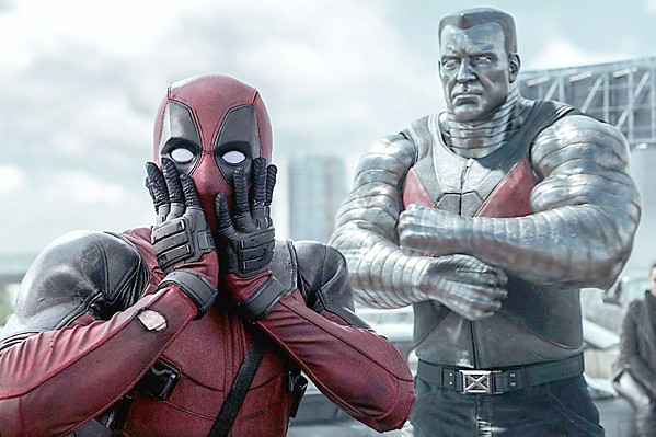 OH MY! Irreverent Deadpool (Ryan Reynolds, left) and goody two-shoes Colossus (voiced by Stefan Kapicic) continue their love-hate relationship. - PHOTO COURTESY OF TWENTIETH CENTURY FOX