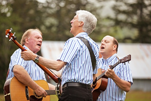'TOM DOOLEY' Mike Marvin, Tim Gorelangton, and Josh Reynolds (son of original member Nick Reynolds) are The Kingston Trio, playing the group's hits on June 16, in the Fremont Theater. - PHOTO COURTESY OF THE KINGSTON TRIO