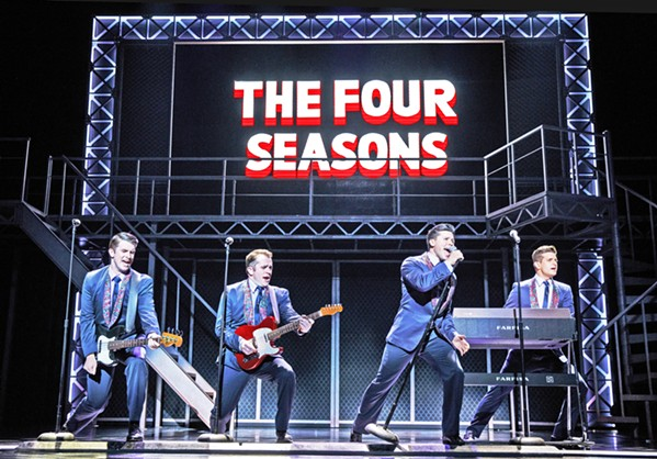 'WALK LIKE A MAN' Tony, Grammy, and Olivier Award-winning hit musical Jersey Boys, the story of Frankie Valli and The Four Seasons, comes to Cal Poly's Performing Arts Center for two nights, June 19 and 20. - PHOTO COURTESY OF CAL POLY ARTS