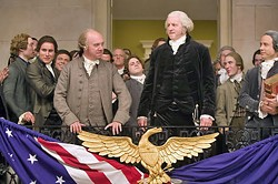 UNIMPEACHABLE PERFORMANCE Paul Giamatti (pictured left) stars as the titular character of HBO's John Adams. - PHOTO COURTESY OF HBO