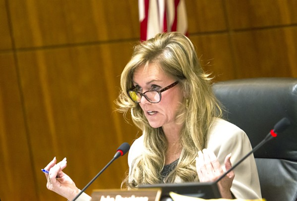 COMPTON PREVAILS After a final ballot count on June 22, 4th District SLO County Supervisor Lynn Compton won re-election over her challenger, Jimmy Paulding. - FILE PHOTO BY JAYSON MELLOM
