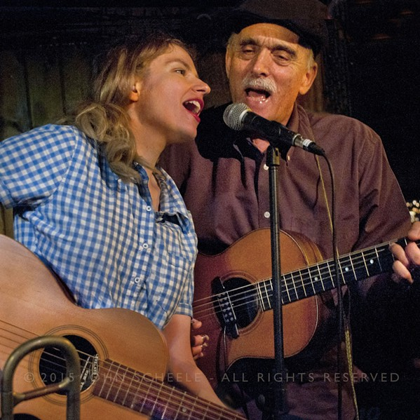 RED BARNERS Americana, blues, early jazz, jug band, and beyond duo Meredith Axelrod and Jim Kweskin play the next Red Barn Community Music Series on July 7. - PHOTO COURTESY OF JIM KWESKIN AND MEREDITH AXELROD