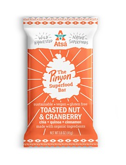 A NEW CRUNCH The Pinyon Superfood Bar is not only made with all natural ingredients but it's also made sustainably. - PHOTO COURTESY OF ATSÁ FOODS