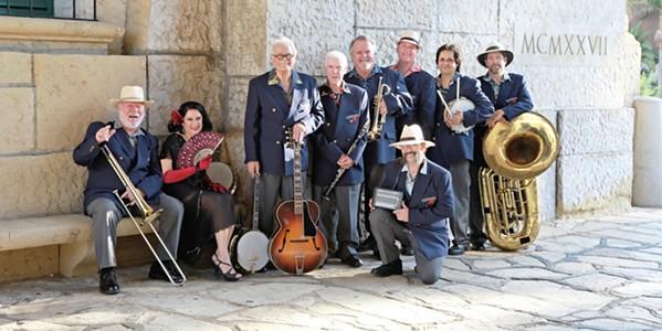 HOT SWINGING JAZZ Santa Barbara's Ulysses Jasz Band plays the Pismo Vets Hall on July 29. - PHOTO COURTESY OF THE ULYSSES JASZ BAND