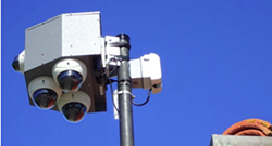 EYE IN THE SKY Paso Robles will continue to use mounted pods of cameras like the one above to monitor public safety in the city. Police officials said the cameras help deter crime. - PHOTO COURTESY OF THE PASO ROBLES POLICE DEPARTMENT