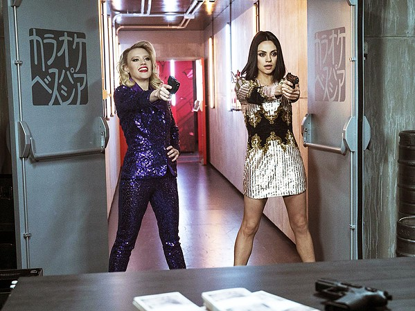 REBOUND In The Spy Who Dumped Me, Audrey (Mila Kunis), along with her best friend Morgan (Kate McKinnon) is thrown into an international conspiracy when her ex-boyfriend turns out to be a spy. - PHOTO COURTESY OF LIONSGATE