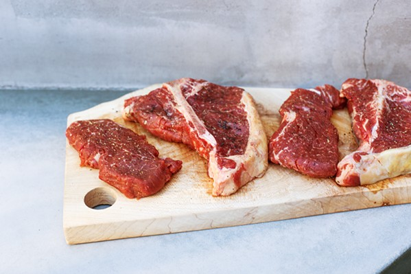 LOCAL MEAT, DELIVERED Each Central Coast Meats box comes with grass-fed beef plus pasture-raised pork and chicken. And no, you won't find hormones or GMO/soy-laced feed in these offerings. - PHOTO COURTESY OF CENTRAL COAST MEATS