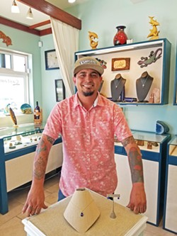 SEA JEWELS Jason Cordero, owner of Cabana Jewelry and Gifts, incorporates gold, silver, and precious gemstones into his sea glass jewelry line. - PHOTO COURTESY OF JASON CORDERO