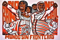 WORLD WITHOUT BORDERS Mundo Sin Fronteras, by artist Sean Guerra, speaks to current tensions surrounding immigration, Mexico, the U.S., and ICE. - IMAGE COURTESY OF THE SLO MUSEUM OF ART