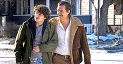 "HUSTLERS Fifteen-year-old Richard ""Rick"" Wershe Jr. (Richie Merritt, left) becomes an FBI informant who's eventually arrested for drug trafficking, in White Boy Rick, with Matthew McConaughey as his father Richard Sr. - PHOTO COURTESY OF BRON STUDIOS"