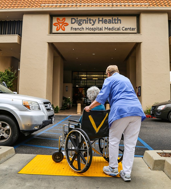 MERGER Dignity Health, which operates two hospitals in SLO County, and Catholic Health Initiatives are looking to combine forces as part of a proposed merger. That merger has raised concerns from state local women's health and LGBTQ advocates. - FILE PHOTO BY DYLAN HONEA-BAUMANN
