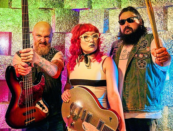 GET CRUSHED Pop punk power trio Hayley and the Crushers will play an album release party at Boo Boo Records on Sept. 28. - PHOTO COURTESY OF PATRICK PATTON
