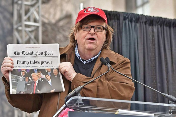 TAKING ON TRUMP Filmmaker Michael Moore explains how Trump bumbled his way into the White House and tries to suggest how to get him out. - PHOTO COURTESY OF DOG EAT DOG FILMS