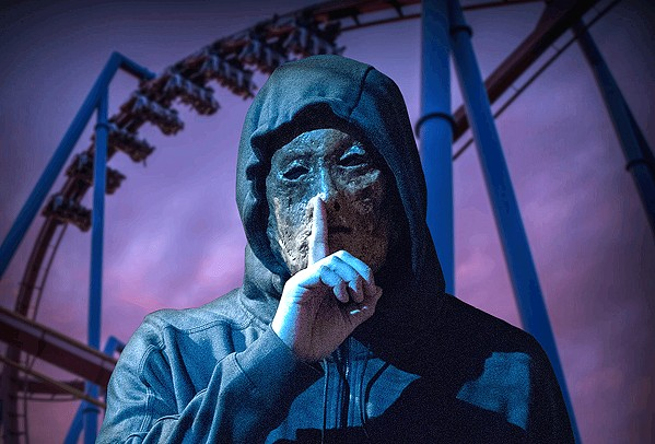 ALL PART OF THE SHOW? A masked killer torments a theme park, leaving attendees to question whether it's all part of the show, in Hell Fest. - PHOTO COURTESY OF TUCKER TOOLEY ENTERTAINMENT