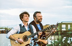 BOSTON TWO Former Bean Town street musicians turned award-winning duo Ryanhood plays an Oct. 13 Música Del Río house concert. - PHOTO COURTESY OF TAYLOR NOEL