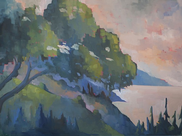 BREATHTAKING The view from Nepenthe in Big Sur is a favorite spot for artist Erin Gafill to capture in pieces like Morning at Nepenthe. - IMAGE COURTESY OF ERIN GAFILL