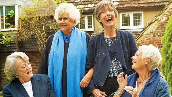 NOTHING LIKE A DAME A quartet of famous actresses and Dames—(left to right) Maggie Smith, Joan Plowright, Eileen Atkins, and Judi Dench—recalls their humble theatrical beginnings and long and eventful careers, in the documentary Tea with the Dames. - PHOTO COURTESY OF FIELD DAY FILMS