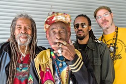 FATHER OF DUB SLO Brew Rock hosts iconic reggae superstar Lee Scratch Perry and the Subatomic Sound System on Oct. 20, while they're on tour for the 45th anniversary of the first dub album, Blackboard Jungle Dub. - PHOTO COURTESY OF LEE SCRATCH PERRY AND THE SUBATOMIC SOUND SYSTEM