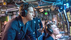 SEARCH AND RESCUE American submarine Capt. Joe Glass (Gerard Butler, left) and a group of US Navy SEALs must find and retrieve the kidnapped Russian president, in Hunter Killer. - PHOTO COURTESY OF HUNTER KILLER PRODUCTIONS