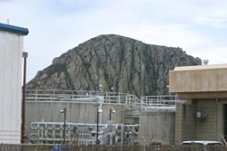 SEWER IN THE WORKS Despite threats of litigations, the Morro Bay City Council awarded a $67.2 million design-build contract for its new wastewater treatment plant on Oct. 23, to replace its current oceanfront facility (pictured). - FILE PHOTO