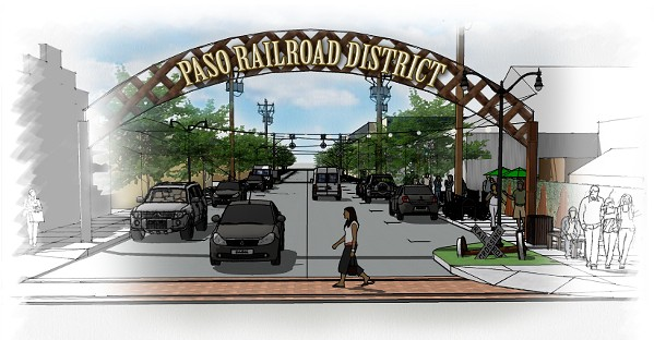 NEW LIFE Paso Robles is rolling out preliminary design ideas to revitalize Railroad Street. - PHOTO COURTESY OF THE CITY OF PASO ROBLES