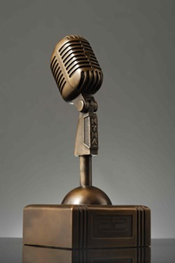 IN IT TO WIN IT! Seven of these bronze Newties will be presented along with a slew of plaques to this year's New Times Music Awards winners! - FILE PHOTO BY STEVE E. MILLER