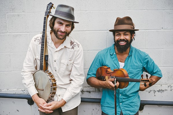 RED BARN BOUND Ben Hunter and Joe Seamons play Nov. 3 in Los Osos' Red Barn, delivering acoustic blues, a cappella field hollers, fiddle and banjo breakdowns, and early jazz. - PHOTO COURTESY OF AMBER ZBITNOFF