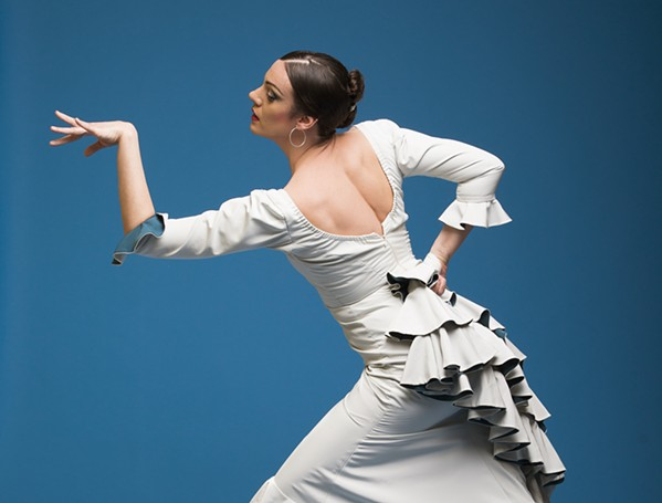 DANCE! Enjoy some flamenco on Dec. 10, when Seattle-based dancer Savannah Fuentes brings her latest show, Pasajera, to the 4 Cats Café and Gallery, accompanied by two Spanish musicians. - PHOTO COURTESY OF STEPHEN RUSK