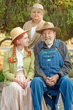 FAMILY A mistake leads to Anne (Becca McHenry, left) being adopted by the aging brother and sister duo of Matthew (Ed Galena) and Marilla (Sholly Von Stein), who were expecting a boy to help them out on their farm. - PHOTO COURTESY OF IAIN MACADAM