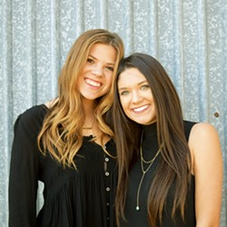 WINE FARMERS UNITE From left: Cal Poly agricultural communications seniors Alex Broedlow and Emily Rosa are founders of senior-project-turned local wine event Rock the Vine, which returns to SLO Brew's The Rock this Dec. 9. - PHOTOS COURTESY OF ROCK THE VINE