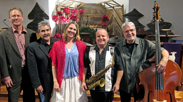 GOT JAZZ? Enjoy a special Christmas Jazz Vespers concert with the George Garcia Quartet and vocalist Inga Swearingen on Dec. 16, in SLO's beautiful First Presbyterian Church. - PHOTO COURTESY OF THE GEORGE GARCIA QUARTET AND INGA SWEARINGEN