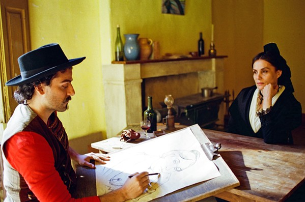 MUSE Oscar Isaac plays painter Paul Gauguin, who, along with Van Gogh, painted Madame Ginoux (Emmanuelle Seigner), in At Eternity's Gate. - PHOTOS COURTESY OF RIVERSTONE PICTURES
